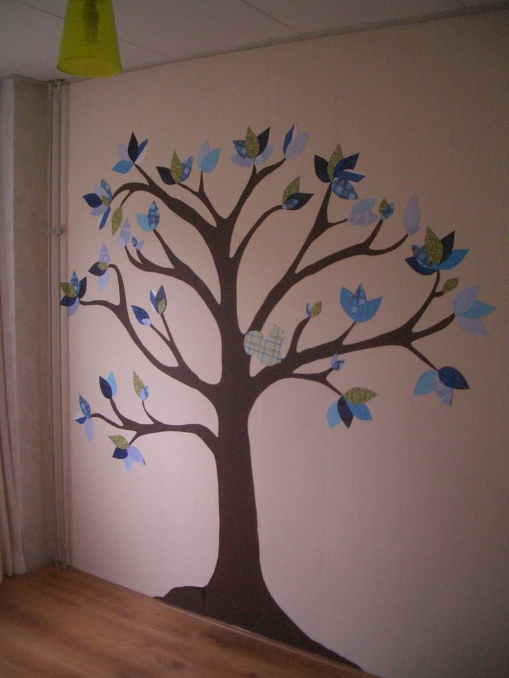 Prachtige boom met behang