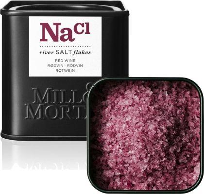 Rött salt med rödvin från Mill & Mortar. Så vackert!! Saltar snyggt. Fantastisk salt dekoration på mat. https://www.freakykitchen.se/sv/artiklar/rodvinssalt.html