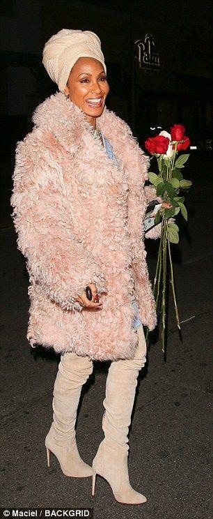 She's so stylish:The Nutty Professor star exuded elegance as she bundled up her sensation...