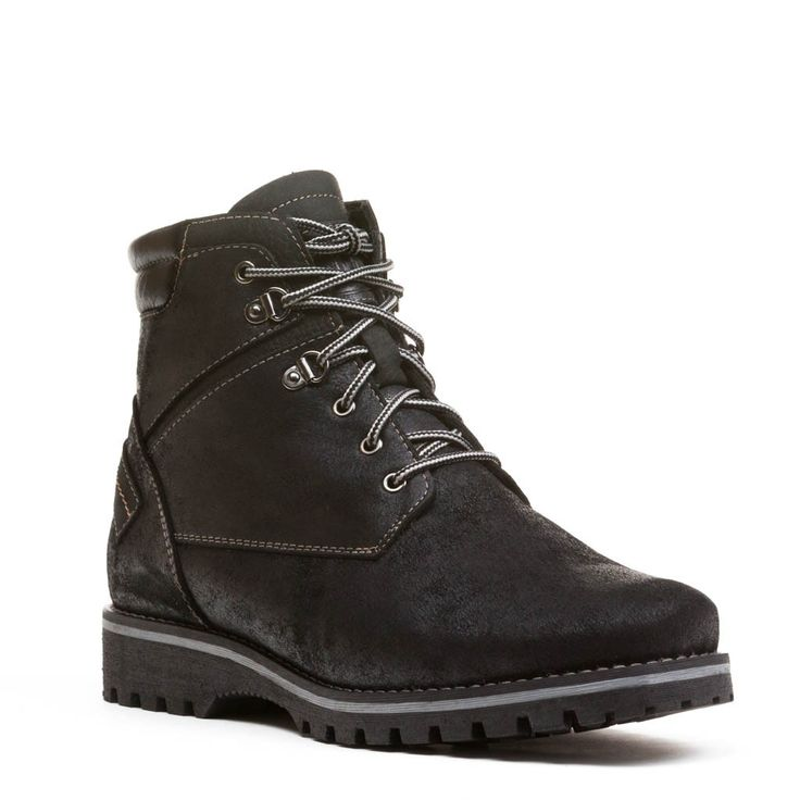Dublin Mens Winter Cold-Weather Boots - Mens leather boots - Mens black leather boots - Mens bush hiker boots - Mens waterproof boots - Handmade wool lined boots. Anfibio Boots® waterproof handcrafted winter boots are made in Montreal, Canada. Luxurious craftsmanship guarantees long-lasting comfort. Anfibio's handmade winter walking boots are warm and durable. Shop men's winter boots, men's snow boots, men's boots, men's cold weather boots, men's winter fashion http://www.bottesanfibio.com