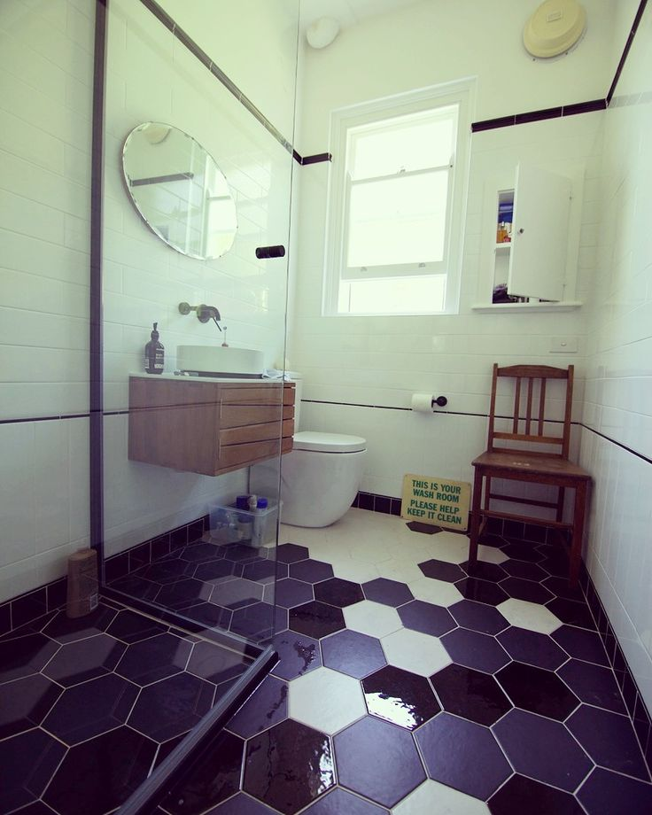 deco style bathroom we recently renovated to suit the traditional bondi apartments - Renovated Bathrooms Pictures