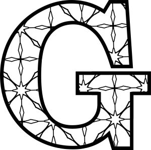 Here's a set of printable alphabet letters coloring pages for you to download and color. Customize the letters by coloring with markers or pencils.: Printable Letter G (With Pattern to Color)