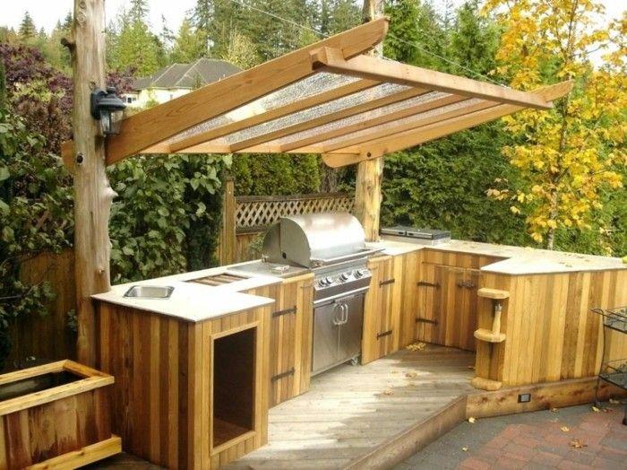 Outdoor Kche macht es mglich kstliches Essen drauen zu genieen  Gartengestaltung  Garten