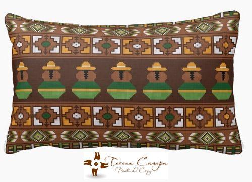 ✄ PATRON PUNTO CRUZ  Cojin II Largo  Medidas a convenir  Para bordar con lanas delgadas en esterilla delgada. http://puntocruzandino.weebly.com/
