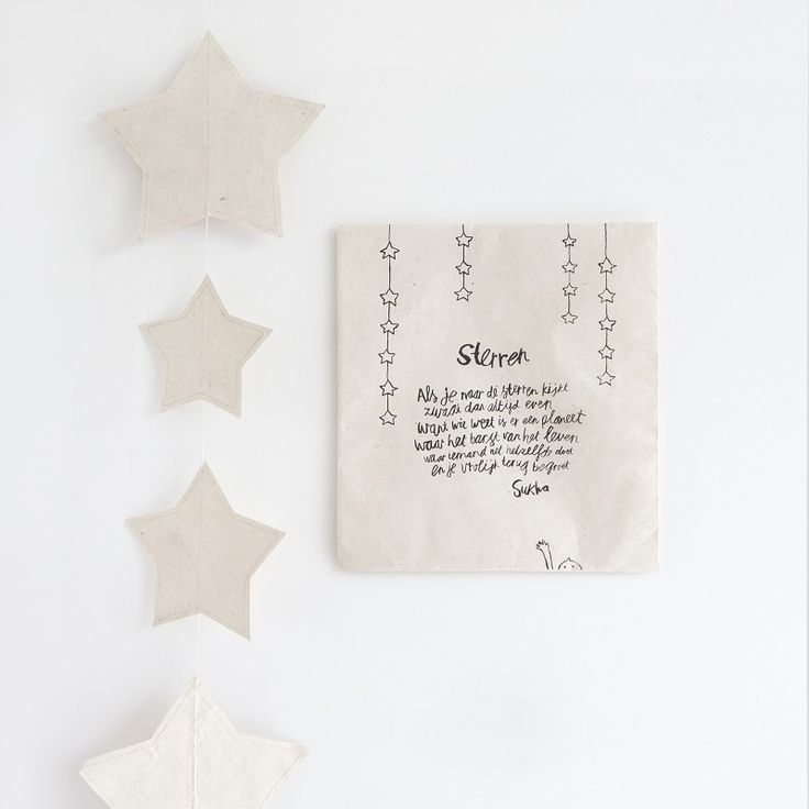 Atelier Sukha Amsterdam slinger ster slinger tara trouwen papier decoratie -