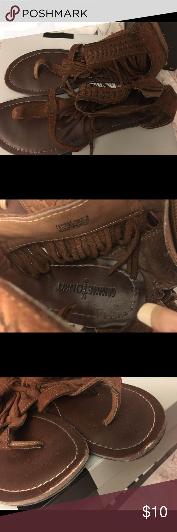 cute Minnetonka Sandals!!  Fringe Sandals  Minnetonka Shoes Sandals