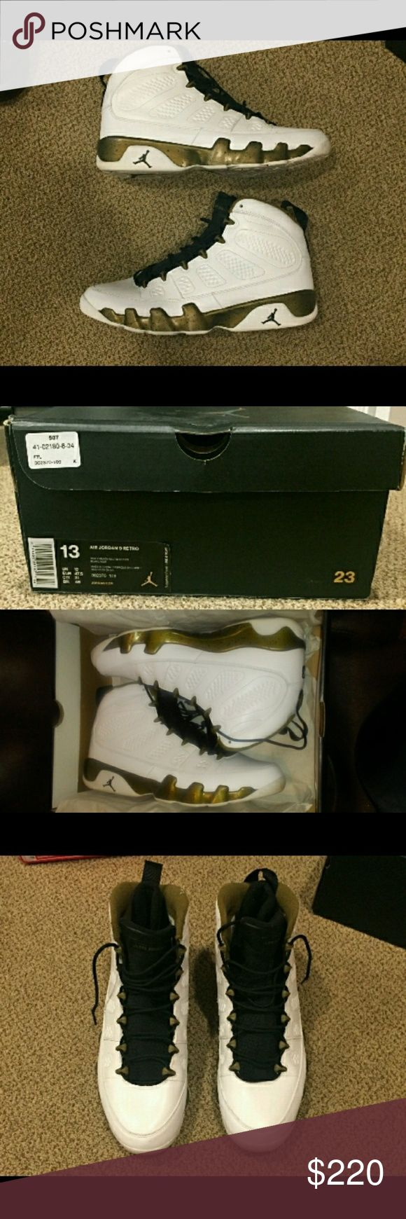 """AUTHENTIC Retro 9 JORDANS... SZ 13 Men AUTHENTIC Retro 9 JORDANS... SZ 13 Men..in Excellent condition worn once.Comes in original box...No trades or selling off POSHMARK. If you purchase this item you are agreeing to the release of payment Once POSHMARK has informed both you and I that the shipment has arrived. No low ballers. When submitting an offer keep in mind """" POSHMARK fees"""".. Air Jordan Shoes Athletic Shoes"""