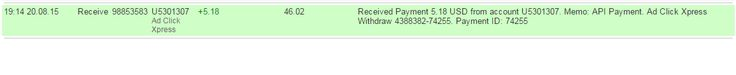 Adclickxpress OMG GUYS I AM GETTING PAID TWICE A DAY COZ ITS NONE OTHER THAN ACX.. HERE IS MY 30th PAYMENT FROM ACX (Adclickxpress) I am getting paid AGAIN AND AGAIN IN LESS THAN 3 HOURS at ACX.. This programme is MAKING A BANG in online income history.. and i am glad that I have joined the LEGIT AND AWSOME ACX EARNING SET UP.. VERY STABLE SYSTEM.. This is not a scam..its 100% legit.. If you wanna get-rich quick scheme to make a bunch of money before it crashes, you are in the wrong place…
