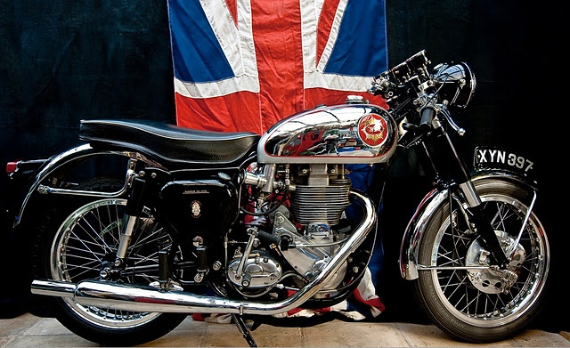 Flying the flag with this awesome BSA.