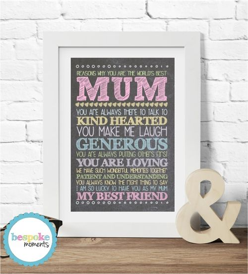 Reasons You're The Best Print by Bespoke Moments. Worldwide Shipping Available.