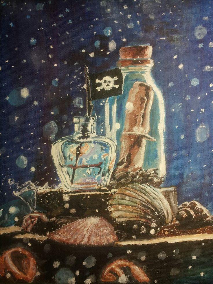 #linen #acrylic #bottle #pirat