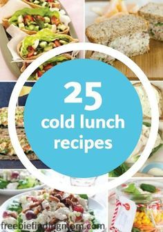 25 Delicious and Healthy Cold Lunch Ideas - Whether you are heading out for a…