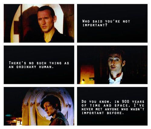 Image result for dr who important quote