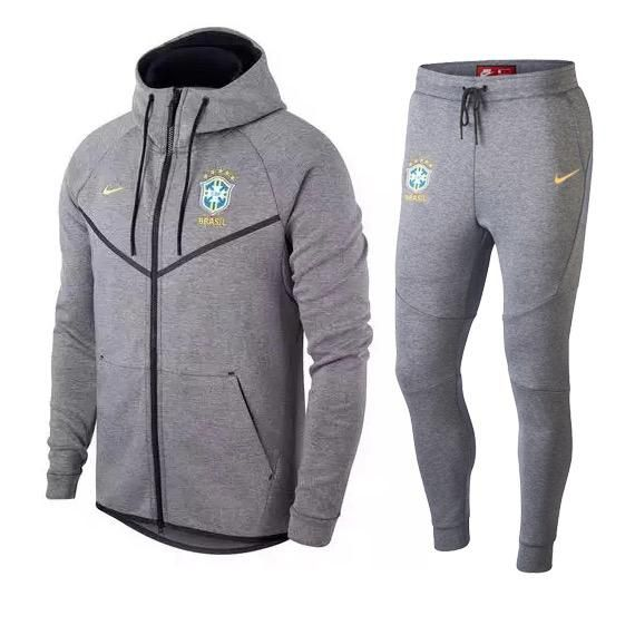 Nike Brazil Gray Tech Track Jacket