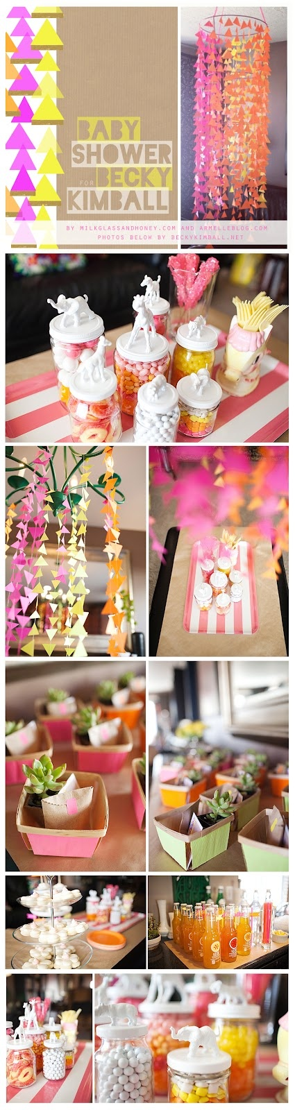 Neon Baby Shower…would any of these ideas work for the wedding?