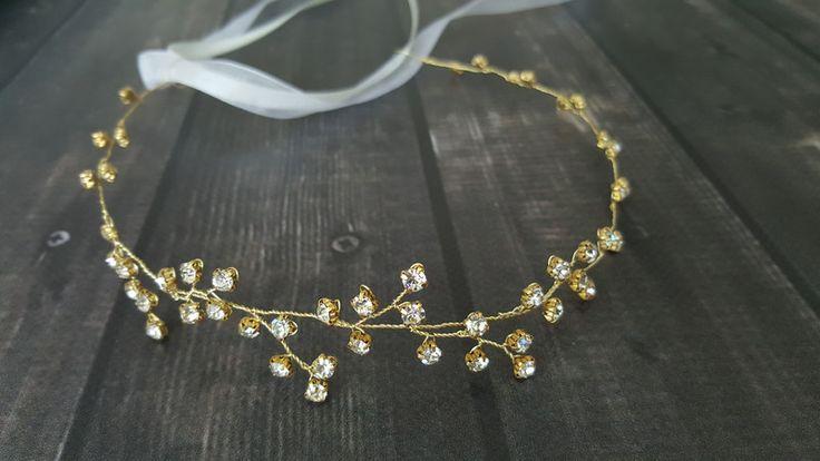 Diademe - wreath / headband diadem boho wedding bridal - ein Designerstück von handmadebykicia bei DaWanda