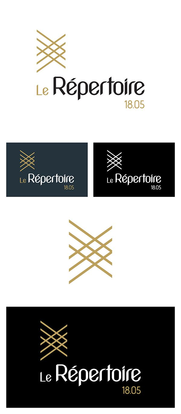 Logo Identity Repertoire fashion industry fabric on Behance