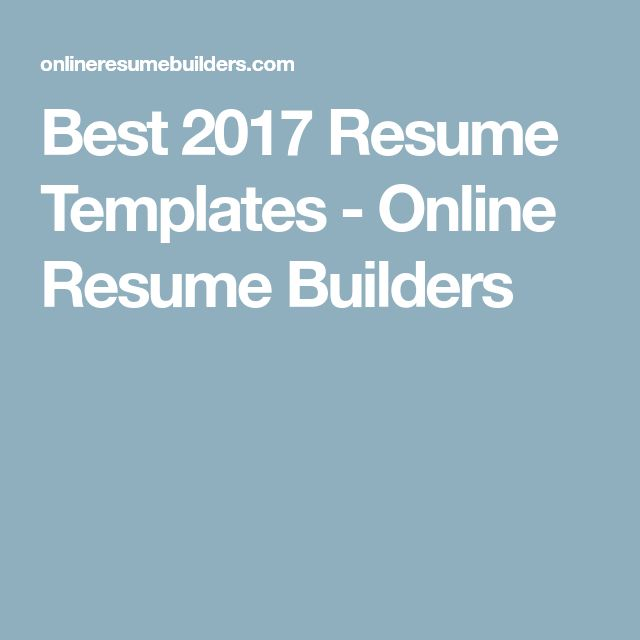 The 25+ best Free online resume builder ideas on Pinterest - online resume maker