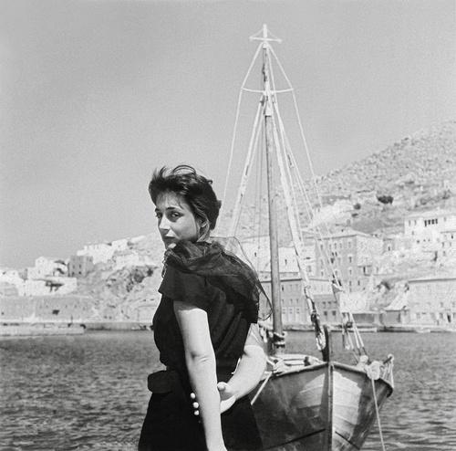 """Elli Lambeti in the """"Girl in Black"""" 1956"""