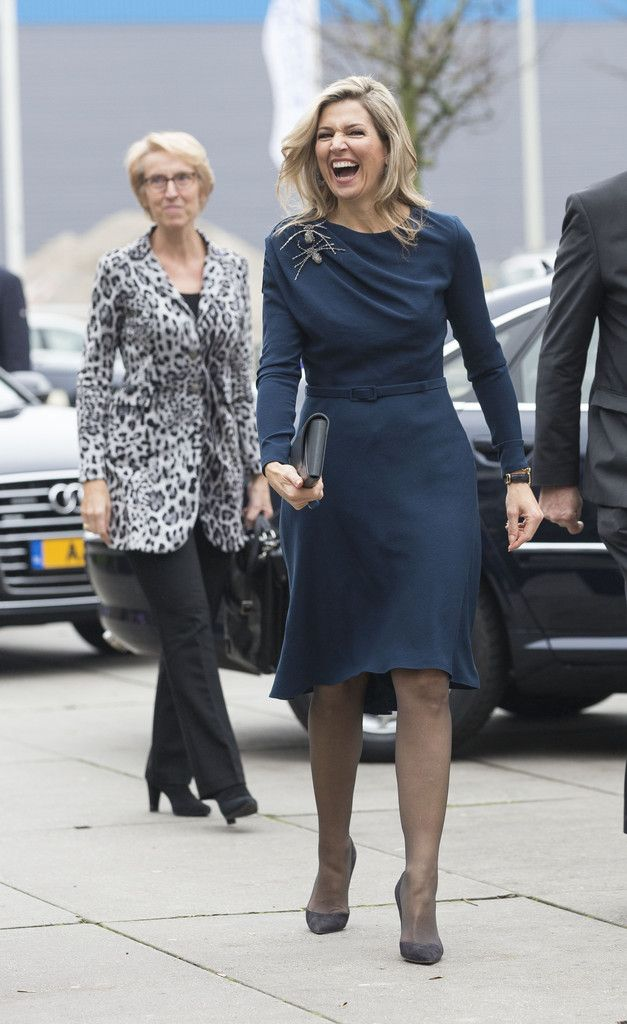Queen Maxima Photos - Queen Maxima of the Netherlands Attends 'Kracht on Tour' Financial Support Workshops For Women In The Hague - Zimbio