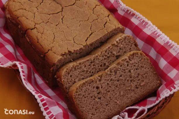 Pan sin gluten de cuatro harinas. conasi