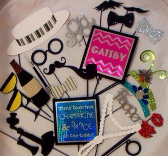 Having a Gatsby theme party! These Photo booth props would look fantastic in the photo booth photos.