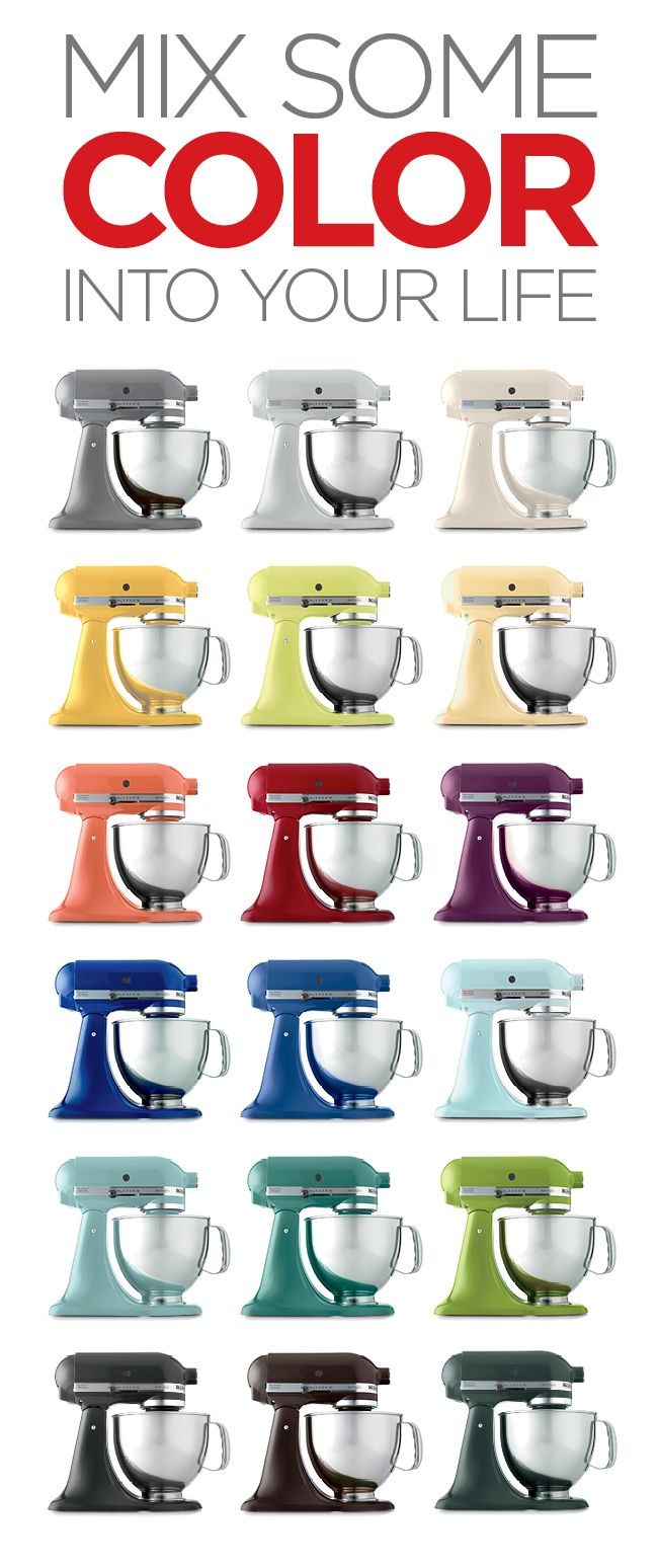 18 KitchenAid mixers in every color imaginable! Which is your fave?