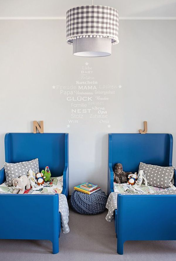 cmo decorar habitaciones infantiles con pinceladas de color - Fantastisch Tolles Dekoration Kinderbett Zum Ausziehen