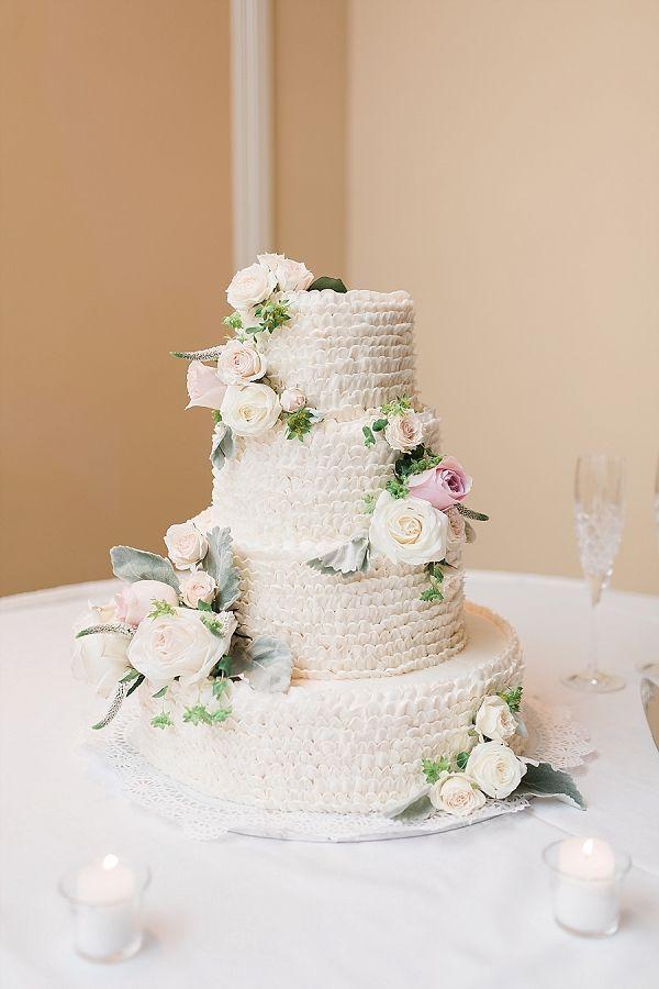 Epic ruffled wedding cake