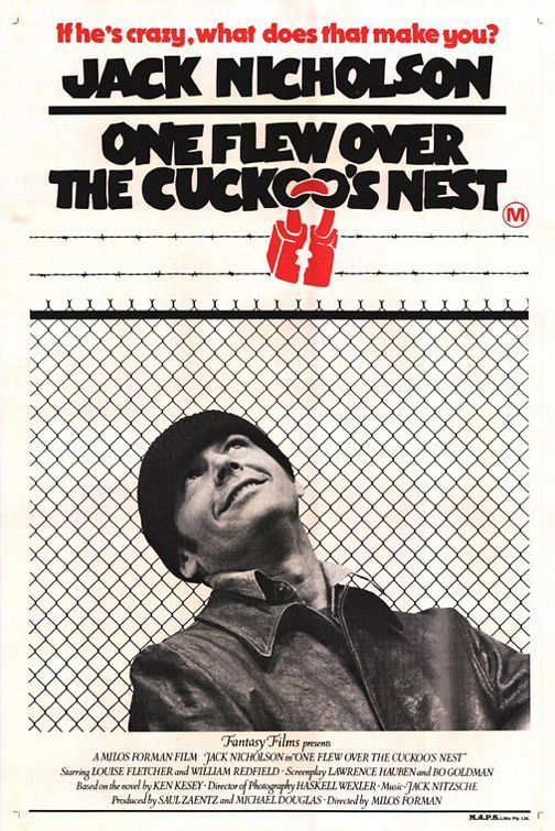 """""""One Flew Over the Cuckoo's Nest"""" > 1975 > Directed by: Milos Forman > Comedy Drama / Tragi-Comedy / Psychological Drama"""