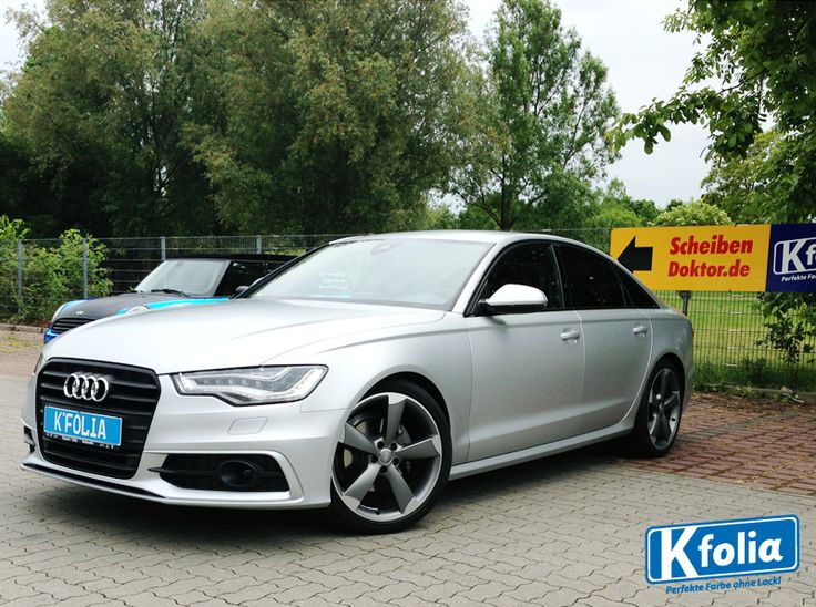 Audi A6 in 3M Satin White Aluminium Matt.
