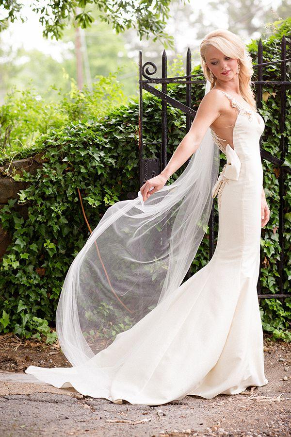 Gorgeous Veiled Wedding Portrait   Hauntingly Beautiful Vintage Bridal Portraits   Jamie Fender, Photographer
