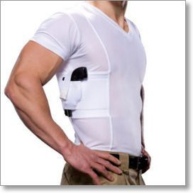 Men's Concealed Carry Holster V-Neck T-Shirt by UnderTech
