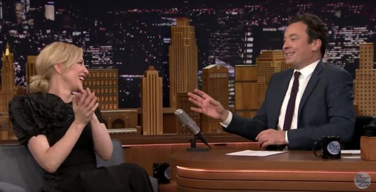 Jimmy Fallon and Cate Blanchett Shared a Breath Mint Last Night, Totally Normal