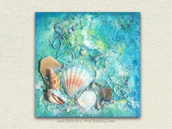 Reserved. Ocean Treasures  / Original Acrylic by TerraArtGallery