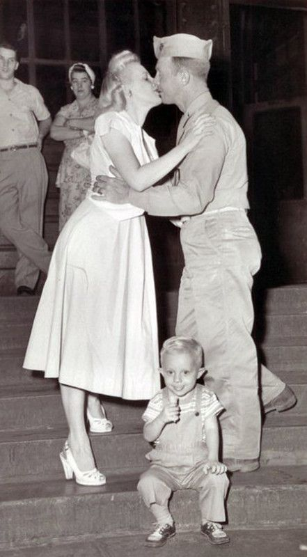 A family reunited after the War.