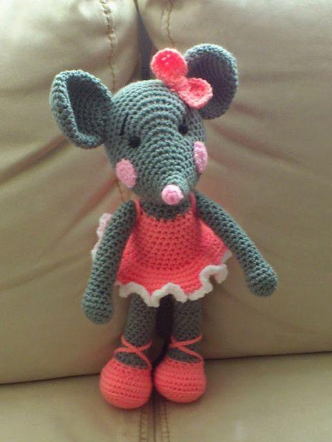 Амигуруми: Мышка. Бесплатная схема для вязания игрушки ...