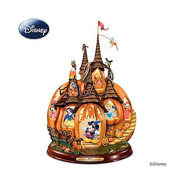 Disney's Enchanted Pumpkin Castle Sculpture