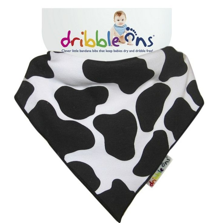 Dribble Ons Designer Dribble on Cow Print