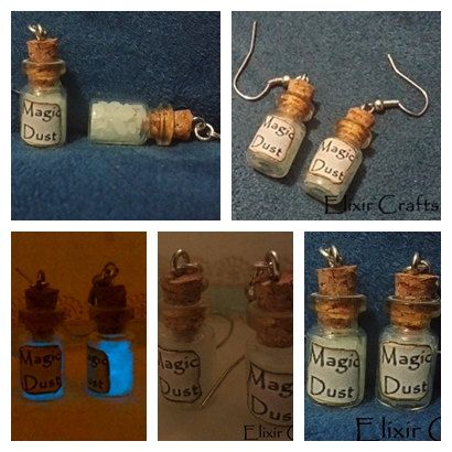 Check out this item in my Etsy shop https://www.etsy.com/listing/220118432/earrings-miniature-bottle-magic-dust