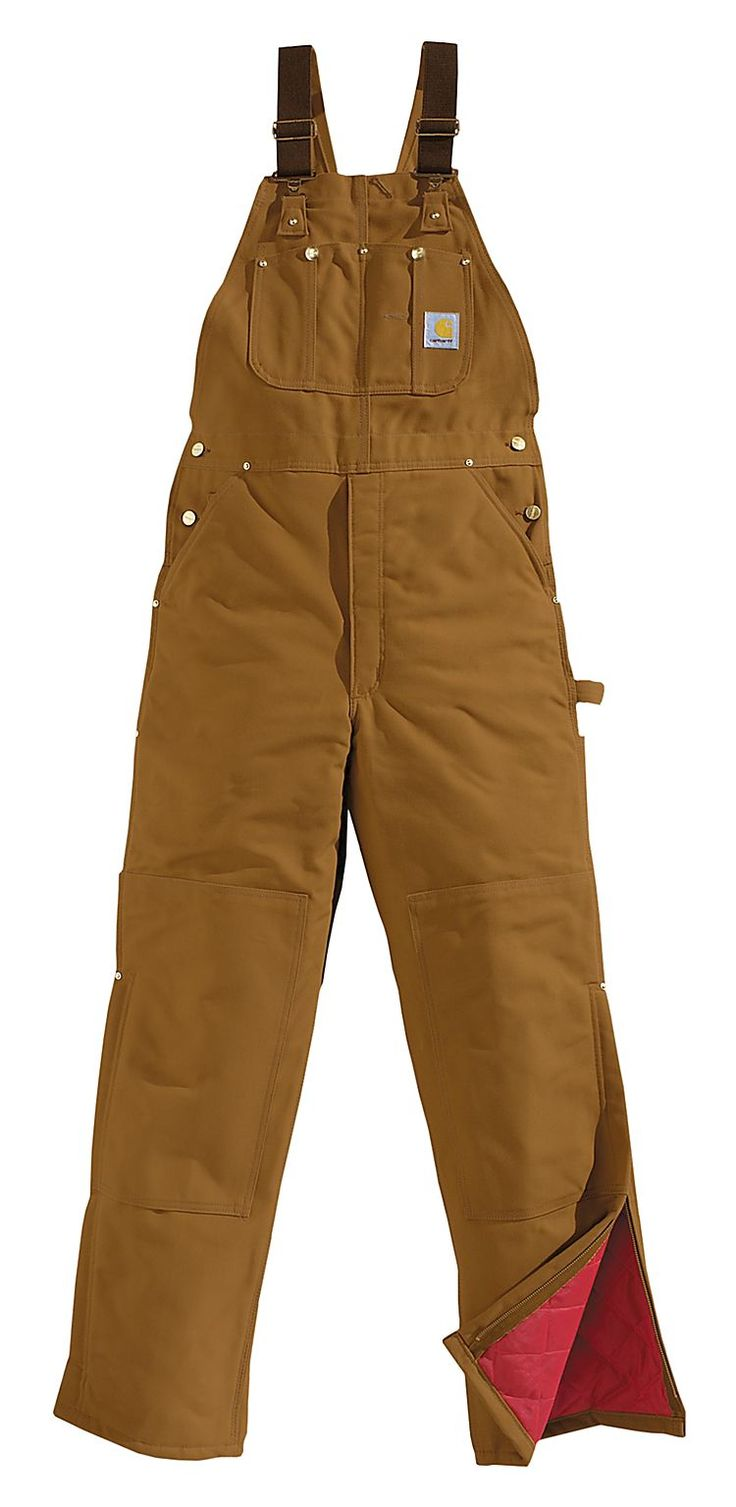 Carhartt® Insulated Duck Bib Overalls for Men | Bass Pro Shops - Need these for school!!!