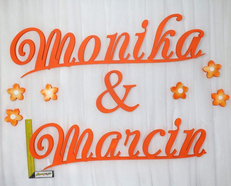 Imiona na ściankę Monika&Marcin