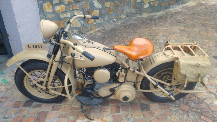 A recent photo of the restored Harley-Davidson used by the South African Union Defence Force in North Africa.