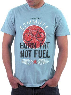 Burn Fat Not Fuel Environmental Tshirt from Cycology Gear