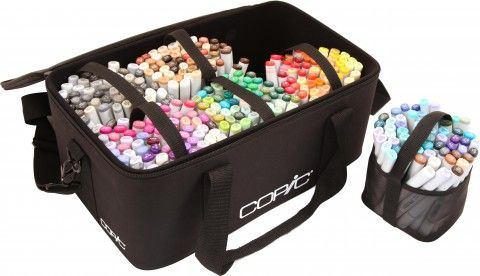 Copic carrying case. Holds 380 sketch markers. No price info yet. Want one!