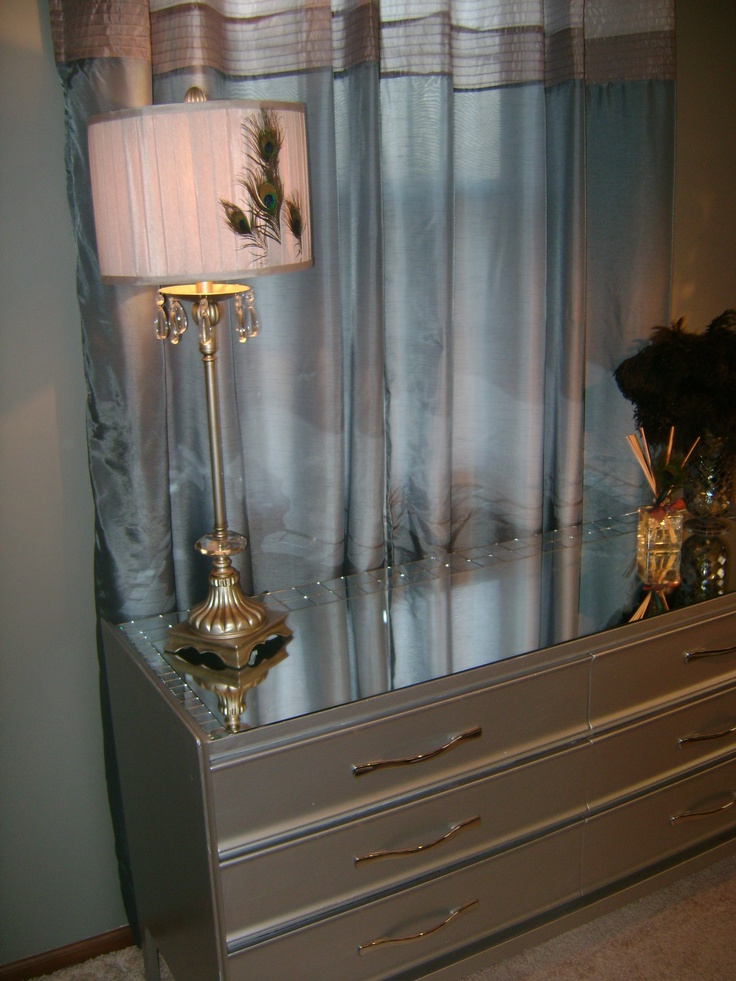 DIY mirrored furniture