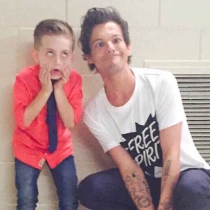 Louis with Nathan from AGT