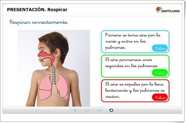 """""""Respirar"""" (Presentación interactiva de Ciencias Naturales de Primaria)"""