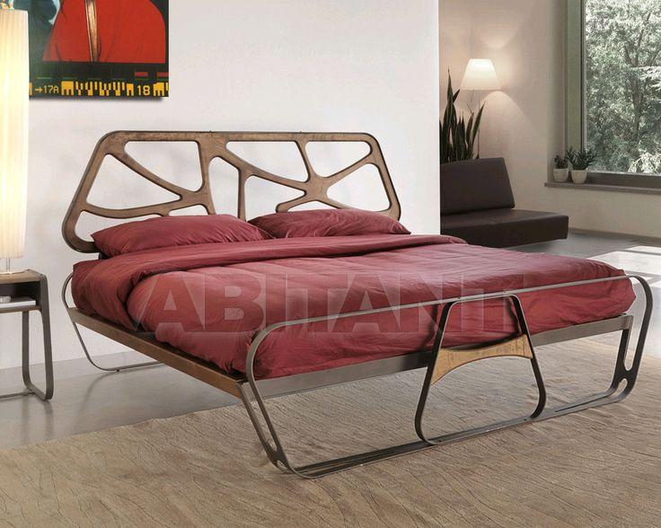 Кровать светло-серая Caporali srl ar145 - letto RUNNER, Каталог мебели ABITANT Москва