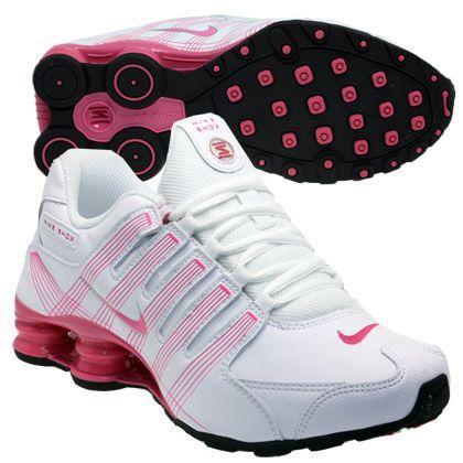 tenis nike shox rosa e broncos